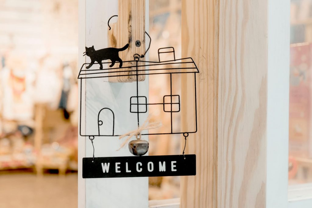 Welcome to our house cat sign